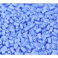 5mm Miyuki Half Tila Beads, Matte Rainbow Lt Periwinkle, 10 Gram Bag