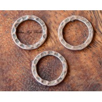 12mm Hammered Linking Rings, Antique Copper, Pack of 12