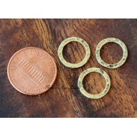 12mm Hammered Linking Rings, Antique Gol..