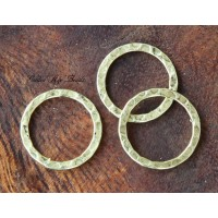 16mm Hammered Linking Rings, Antique Gold, Pack of 12