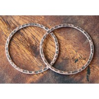 30mm Hammered Linking Rings, Antique Copper