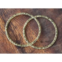 30mm Hammered Linking Rings, Antique Gold