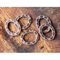 12x10mm Hammered Oval Links, Antique Copper