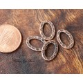 14x10mm Hammered Oval Links, Antique Copper, Pack of 12
