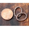 18x13mm Hammered Oval Links, Antique Copper, Pack of 12
