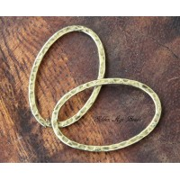 40x30mm Hammered Oval Links, Antique Gold