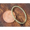 30x20mm Hammered Oval Links, Antique Gold, Pack of 8