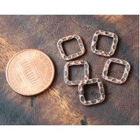 10x10mm Hammered Square Links, Antique C..