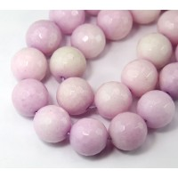 Lilac Candy Jade Beads, 14mm Faceted Round