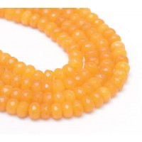 Honey Yellow Candy Jade Beads, 8x5mm Faceted Rondelle