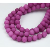 Orchid Matte Jade Beads, 8mm Round