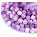 Orchid Mix Multicolor Jade Beads, 8mm Round