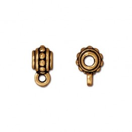 10mm Beaded Slider Bail by TierraCast, Antique Gold