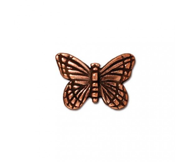 16mm Monarch Butterfly Bead by TierraCast, Antique Copper