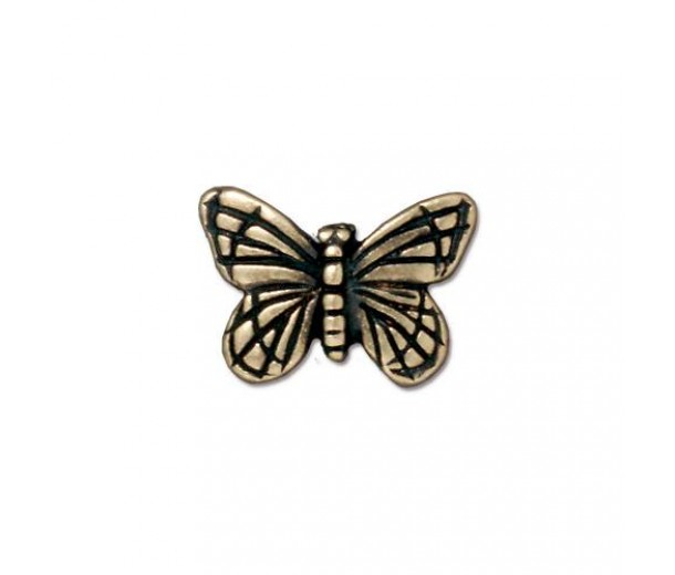16mm Monarch Butterfly Bead by TierraCast, Brass Oxide