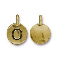 16mm Letter O Charm by TierraCast, Antique Gold