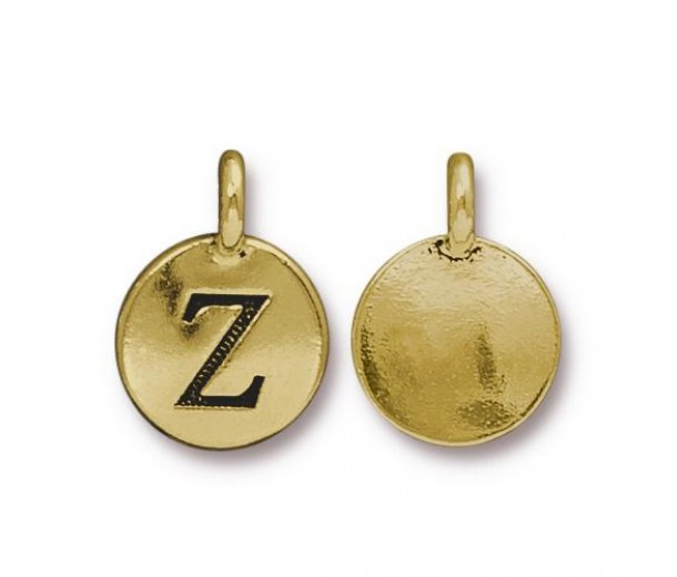 16mm Letter Z Charm by TierraCast, Antique Gold