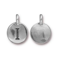 16mm Letter I Charm by TierraCast, Antique Silver
