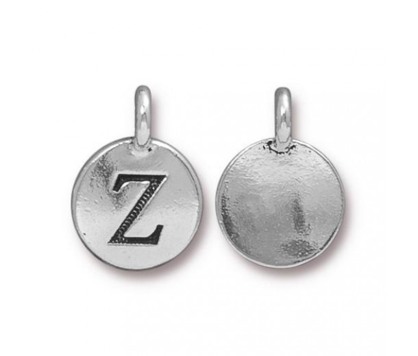 16mm Letter Z Charm by TierraCast, Antique Silver