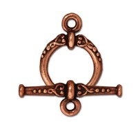 24mm Heirloom Toggle Clasp Set by TierraCast, Antique Copper