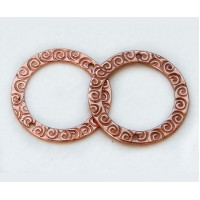 22mm Textured Round Links by JBB Findings, Copper Plated, Pack of 2