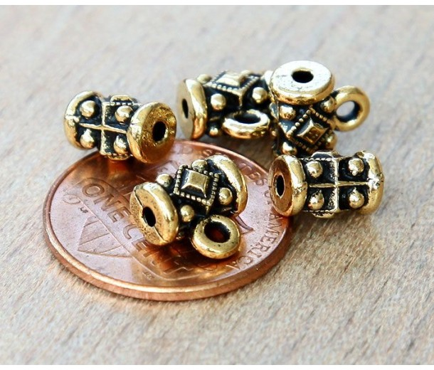 8mm Noble Bail by TierraCast, Antique Gold, Pack of 2