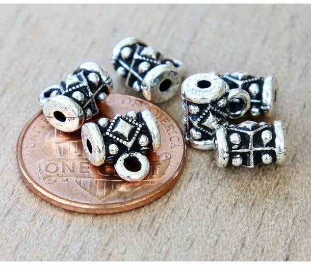 8mm Noble Bail by TierraCast, Antique Silver