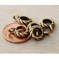 13mm Twisted Large Hole Bail by TierraCast, Antique Gold, 1 Piece