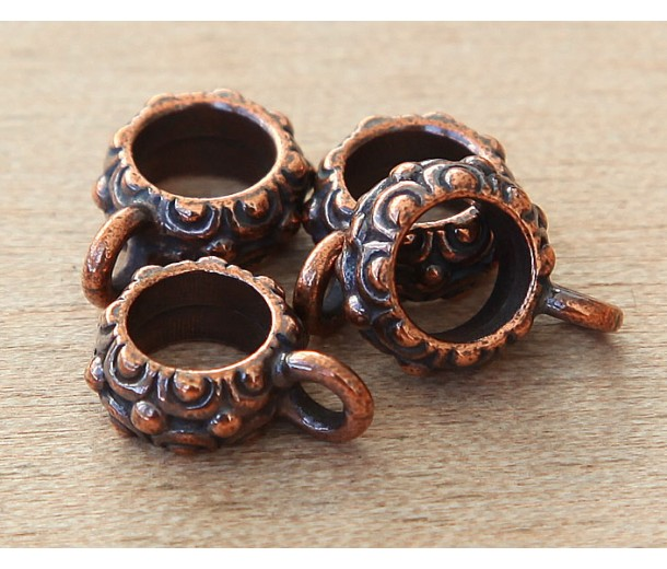 13mm Oasis Large Hole Bail by TierraCast, Antique Copper