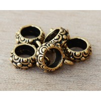 13mm Oasis Large Hole Bail by TierraCast, Antique Gold, 1 Piece