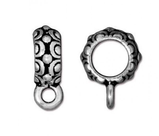 13mm Oasis Large Hole Bail by TierraCast, Antique Silver