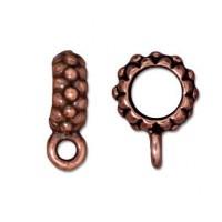 13mm Joy Large Hole Bail by TierraCast, Antique Copper, 1 Piece