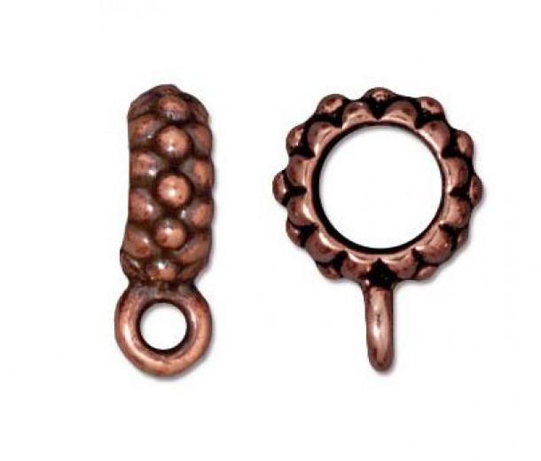 13mm Joy Large Hole Bail by TierraCast®, Antique Copper
