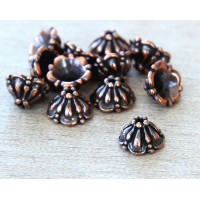 8mm Tiffany Bead Cap by TierraCast, Antique Copper