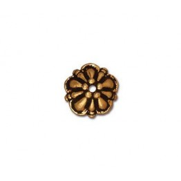 8mm Tiffany Bead Cap by TierraCast®, Antique Gold
