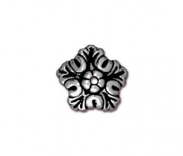 10mm Oak Leaf Bead Cap by TierraCast®, Antique Silver