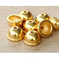 9mm Classic Dome Bead Cap by TierraCast, Bright Gold