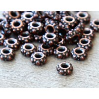 4.5mm Small Turkish Beads by TierraCast, Antique Copper, Pack of 20