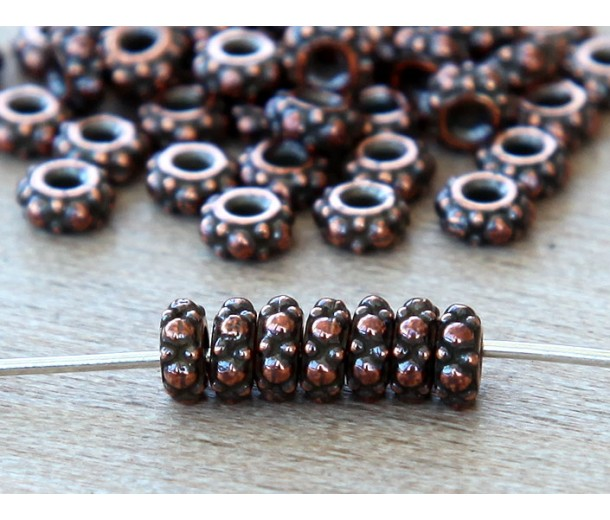 4.5mm Small Turkish Bead by TierraCast, Antique Copper