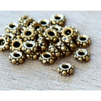 4.5mm Small Turkish Bead by TierraCast, Antique Gold
