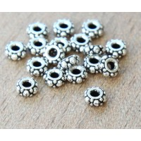 4.5mm Small Turkish Bead by TierraCast, Antique Silver