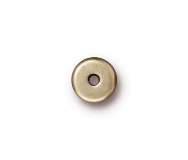 6mm Round Heishi Disks by TierraCast®, Brass Oxide