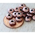 6mm Nugget Bead with 2mm Hole by TierraCast, Antique Copper, Pack of 10