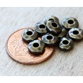 6mm Nugget Bead with 2mm Hole by TierraCast®, Brass Oxide