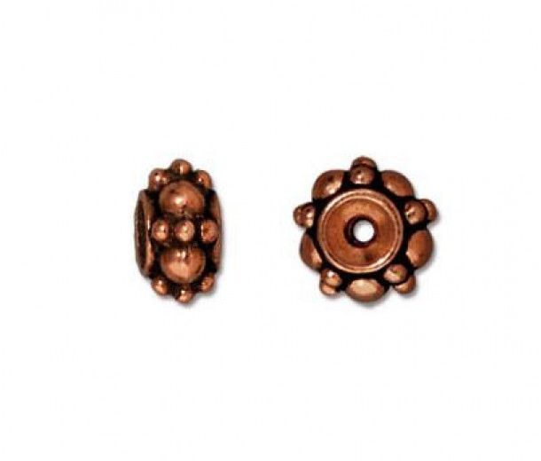 7mm Turkish Bead by TierraCast, Antique Copper, Pack of 5