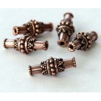 17x7mm Bali Barrel Beads by TierraCast, Antique Copper, Pack of 5