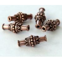 17x7mm Bali Barrel Bead by TierraCast®, Antique Copper