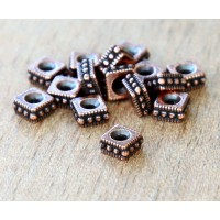4mm Rococo Square Bead by TierraCast, Antique Copper