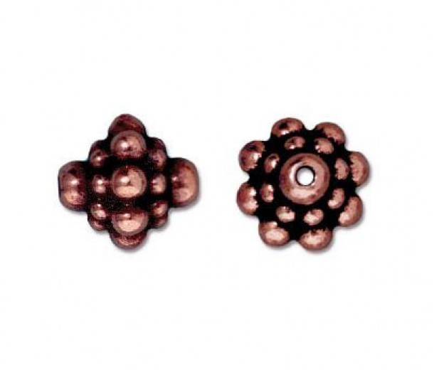 8mm Pamada Beads by TierraCast, Antique Copper, Pack of 5