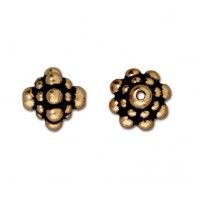 8mm Pamada Bead by TierraCast, Antique Gold